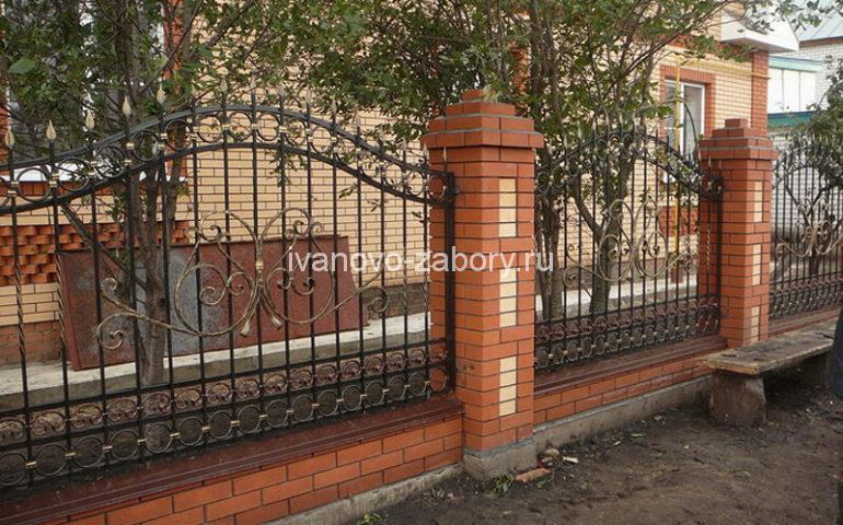 строительство заборов с ковкой в Иваново