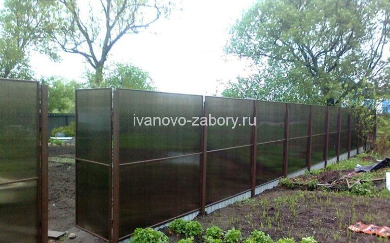 изготовление заборов из поликарбоната в Иваново