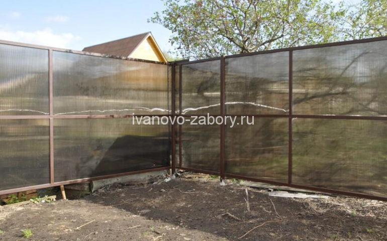 забор из поликарбоната в Иваново