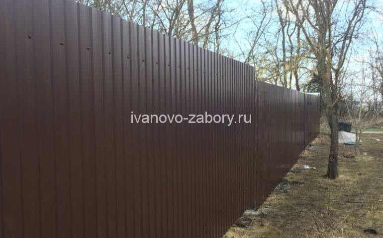 забор из профлиста в Иваново